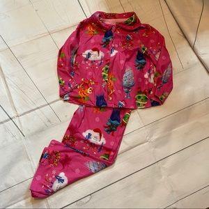 Trolls Girl's 4T Holiday Flannel Pajama Set